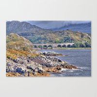 nan lawson Canvas Prints featuring Loch nan uamh Viaduct by Chris Thaxter