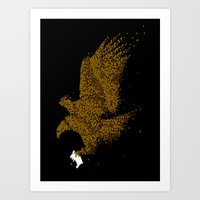 hunting Art Prints featuring Hunting by Flying Mouse 365
