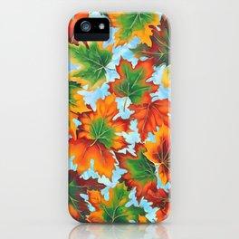 Autumn maple leaves II iPhone Case