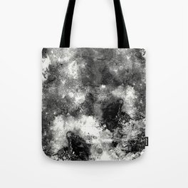 Deja Vu - Black and white, textured painting Tote Bag