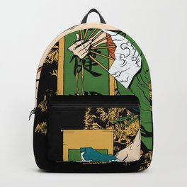 Beautiful Geisha Illustration Backpack