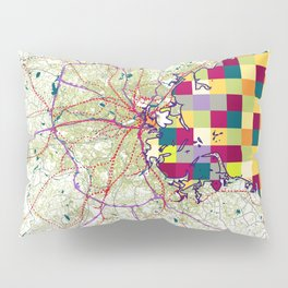 Boston 's pop urban map Pillow Sham