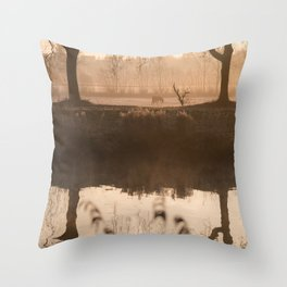 The Early Bird Captures The Shot Throw Pillow