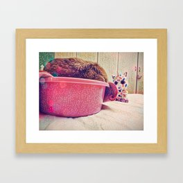 Some Friends have to Walk On Four Legs, Just So They Can Carry Around Such Big Hearts Framed Art Print