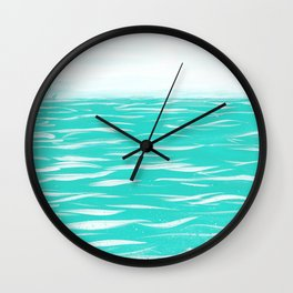 Sailing Across A Turquoise Sea Wall Clock