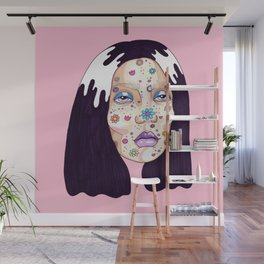 Allergic to flowers Wall Mural