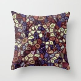 Fractal Gems 01 - Fall Vibrant Throw Pillow