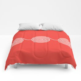 Yacht style. Rope spirals. Red. Comforters