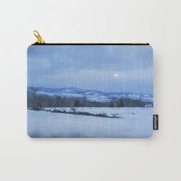 Full Moon Over a Field of Snow Carry-All Pouch