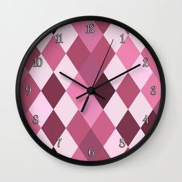 Pink Roses in Anzures 3 Harlequin 1 Wall Clock