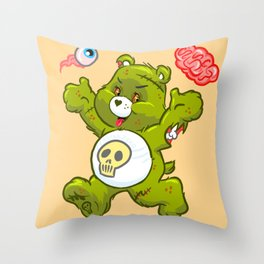 Zombie Bear Throw Pillow