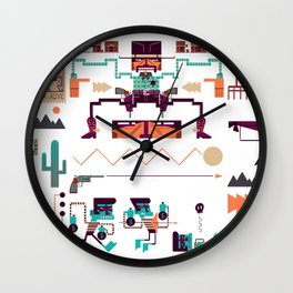 Cowboys Wall Clock