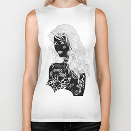 Tattooed Girl Biker Tank