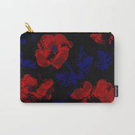 Abstract pattern . Orange poppies. Carry-All Pouch
