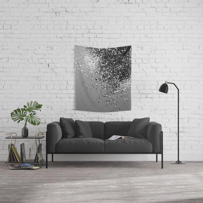 Sparkling Silver Gray Lady Glitter #1 #shiny #decor #art #society6 Wall Tapestry