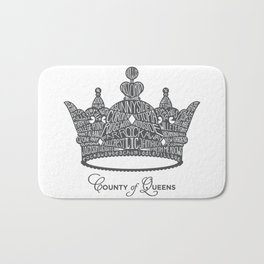 County of Queens | NYC Borough Crown (GREY) Bath Mat