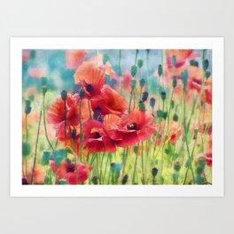 Poppy Parade Art Print