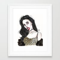 charli xcx Framed Art Prints featuring Charli by Lucas David