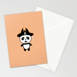 Panda Pirate Captain T-Shirt for all Ages D5pfg Stationery Cards