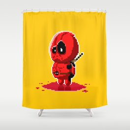 8 bit Merc with a Mouth Shower Curtain