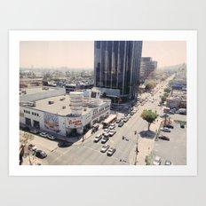 Sunset Blvd Art Print