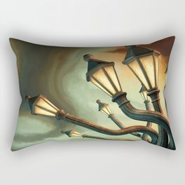 Drunk Streetlamps Rectangular Pillow