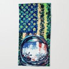 pop art usa collage 3 Beach Towel