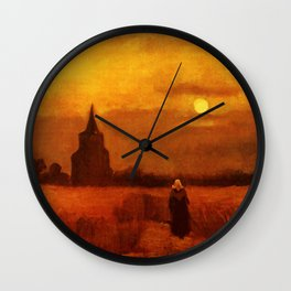 Vincent Van Gogh The Old Tower In The Fields Wall Clock
