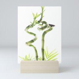 decorative bamboo against a light background Mini Art Print