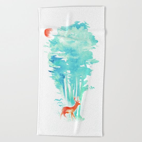 Summer in the Woods Beach Towel