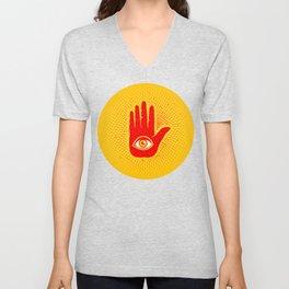 Hand and eye Unisex V-Neck
