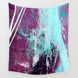 01012: a vibrant abstract piece in teal and ultraviolet Wall Tapestry