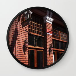 Red Brick Wall... Wall Clock