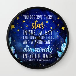 Star and Diamonds Wall Clock