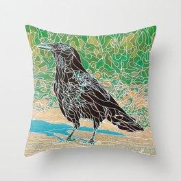 Crow #1 Throw Pillow