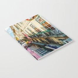 Beautiful Pink Street Downtown Lisbon City, Wall Art Print, Modern Architecture Art, Poster Decor Notebook