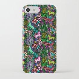 Magical Rainbow Unicorn Forest iPhone Case