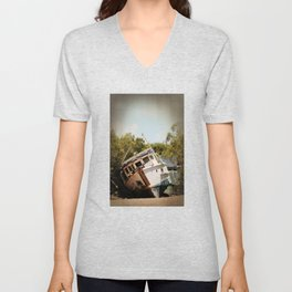 Grounded boat in need of some care Unisex V-Neck