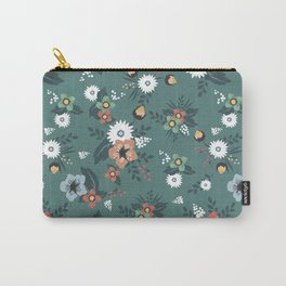Green summer flowers Carry-All Pouch