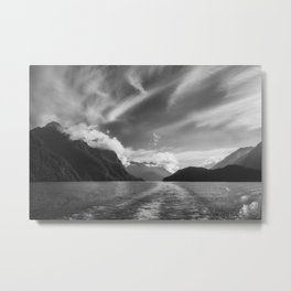 Dramatic clouds and alpine scenery at Lake Manapouri Metal Print