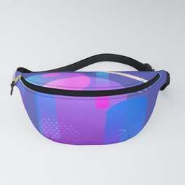 Purple Galaxy Type Abstract Design Fanny Pack