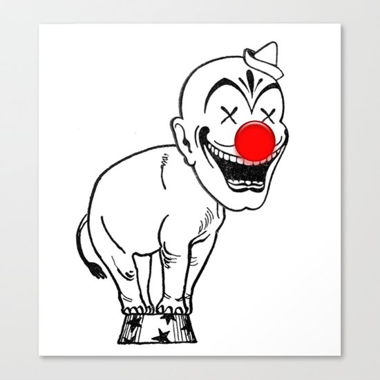 elephant clown Canvas Print