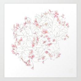 Flors Art Print