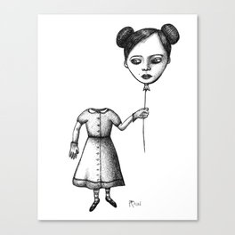 WHERE IS MY MIND? (Balloon Head Girl) Canvas Print