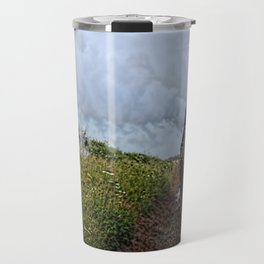 Steam train coach reflection Travel Mug