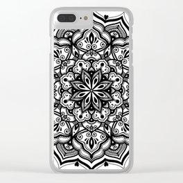 Heart mandala Clear iPhone Case