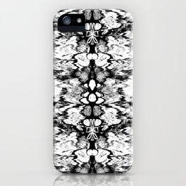 Modern Bohemian Black and White Pattern iPhone Case