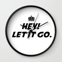 Lei It Go Wall Clock