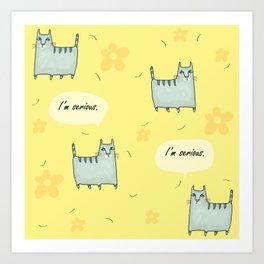 Why So Serious....Cat Art Print