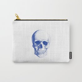Blue skull Carry-All Pouch